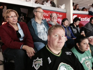 Association members at the Knights game.